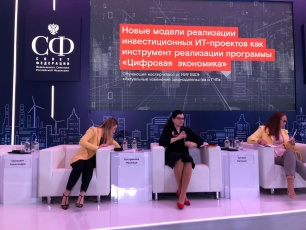 Evgenia Zusman moderated a workshop on PPP in IT